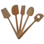 Complete kit of 5  wooden utensils