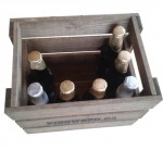 12 pack wooden beer case