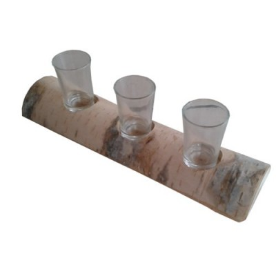 Birch log shooter holder