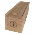 Classic red oak wine bottle box