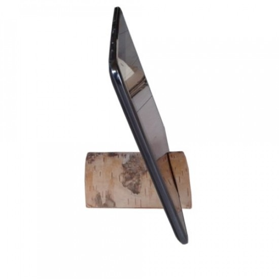 Ipad and tablet Birch log docking station