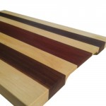 Mixed wood cutting boards with Maple