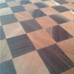 End grain butcher block cutting boards Walnut and Cherry