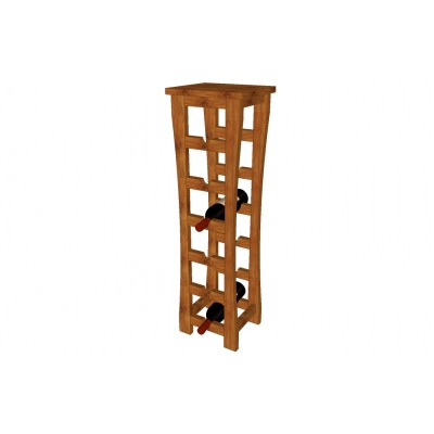 6 bottles capacity wine rack