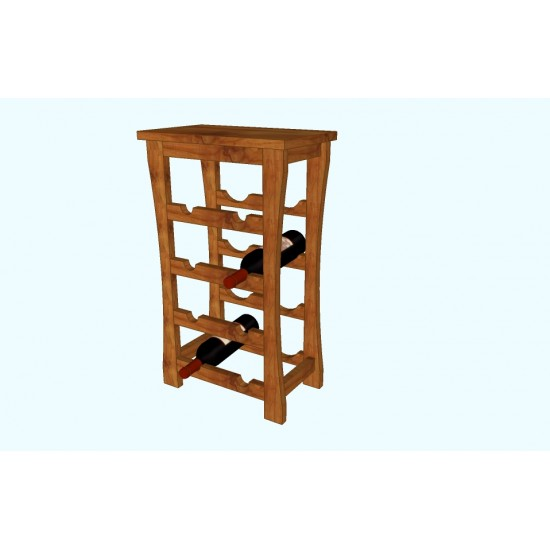 8 bottles capacity wine rack