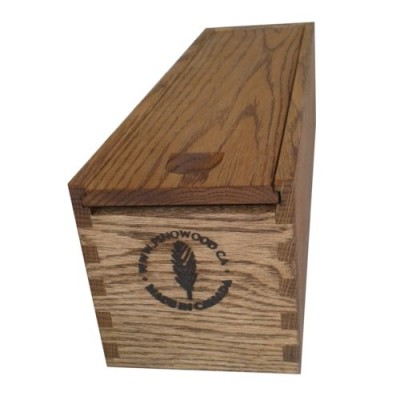 Finger jointed  red oak wine bottle box
