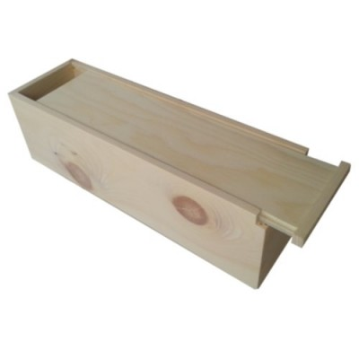 jointed wine bottle box with straight top