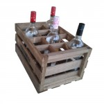 12 bottles vintage carrying case