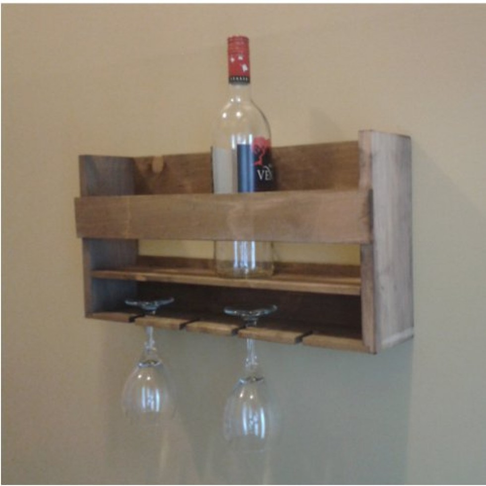 wall rack for bottles and wine glass support mural pour. Black Bedroom Furniture Sets. Home Design Ideas